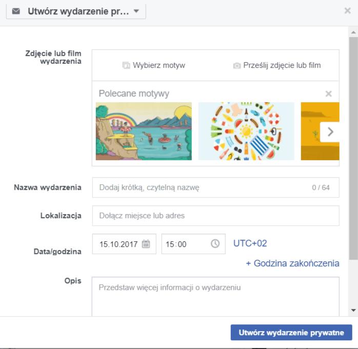 jak zrobić wydarzenie na Facebooku